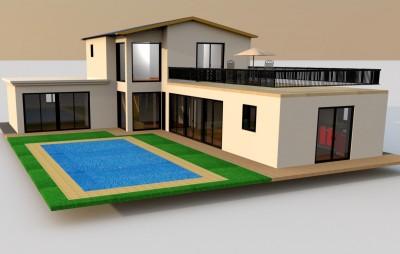 Villa basse traditionnelle f3 immobilier annonce malgache for Villa basse moderne
