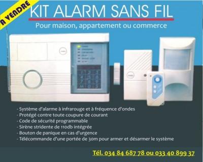a vendre kit alarme sans fil pour maison appartement ou commerce appareil. Black Bedroom Furniture Sets. Home Design Ideas